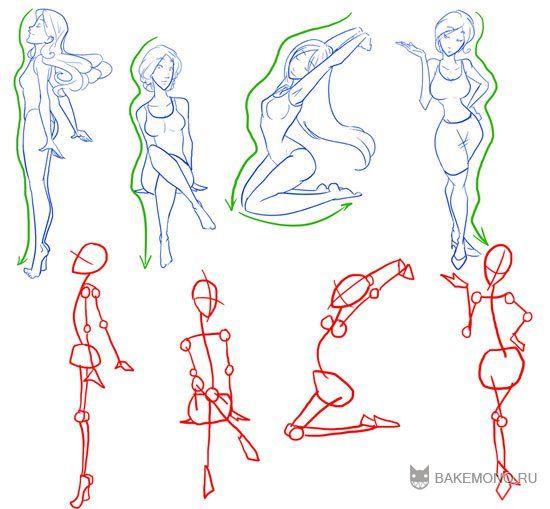 Line Drawing Female Body : Как рисовать женское тело фигуры pinterest anatomy