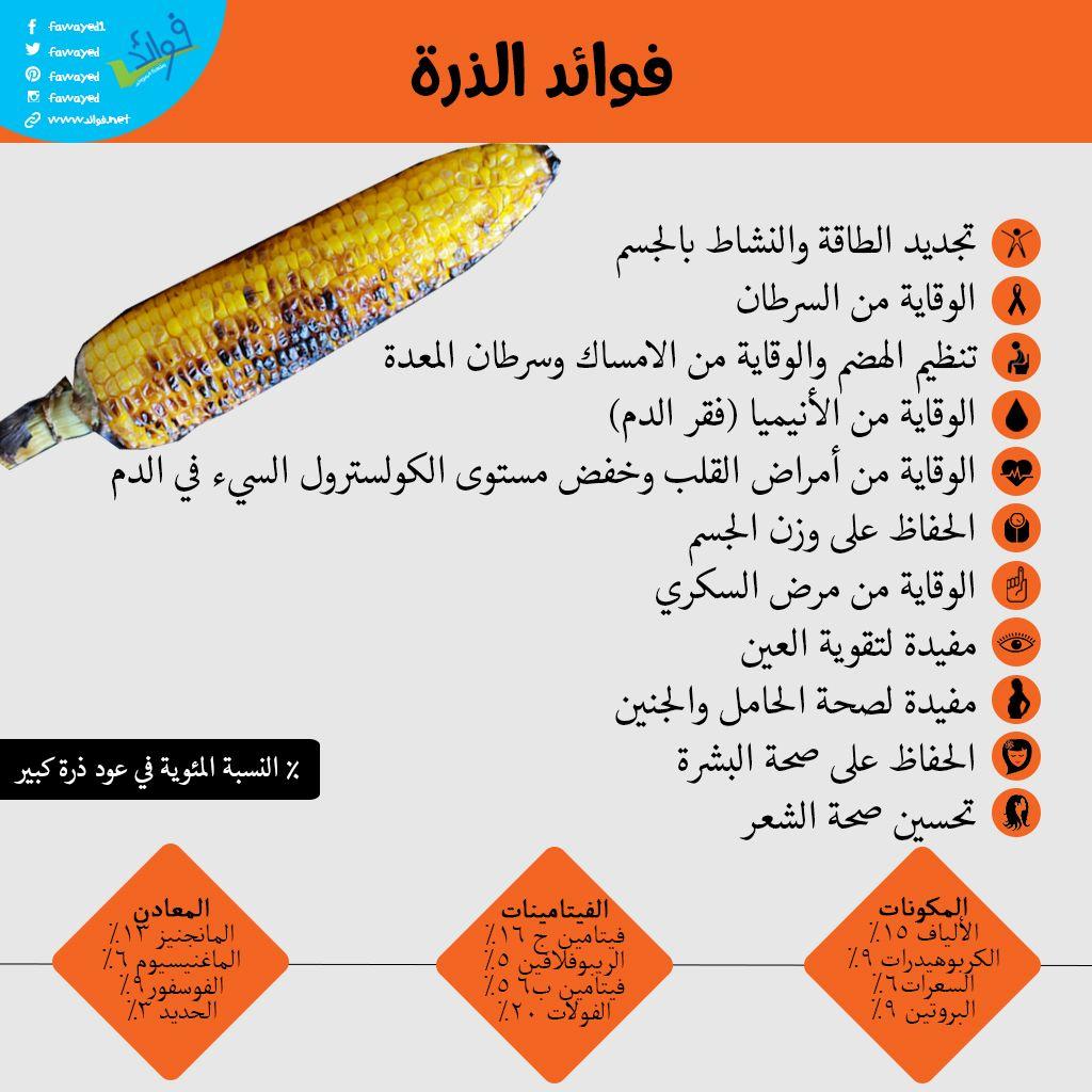 انفوجراف فوائد الذرة المدهشة Healthy Tips Nutrition Facts Healthy