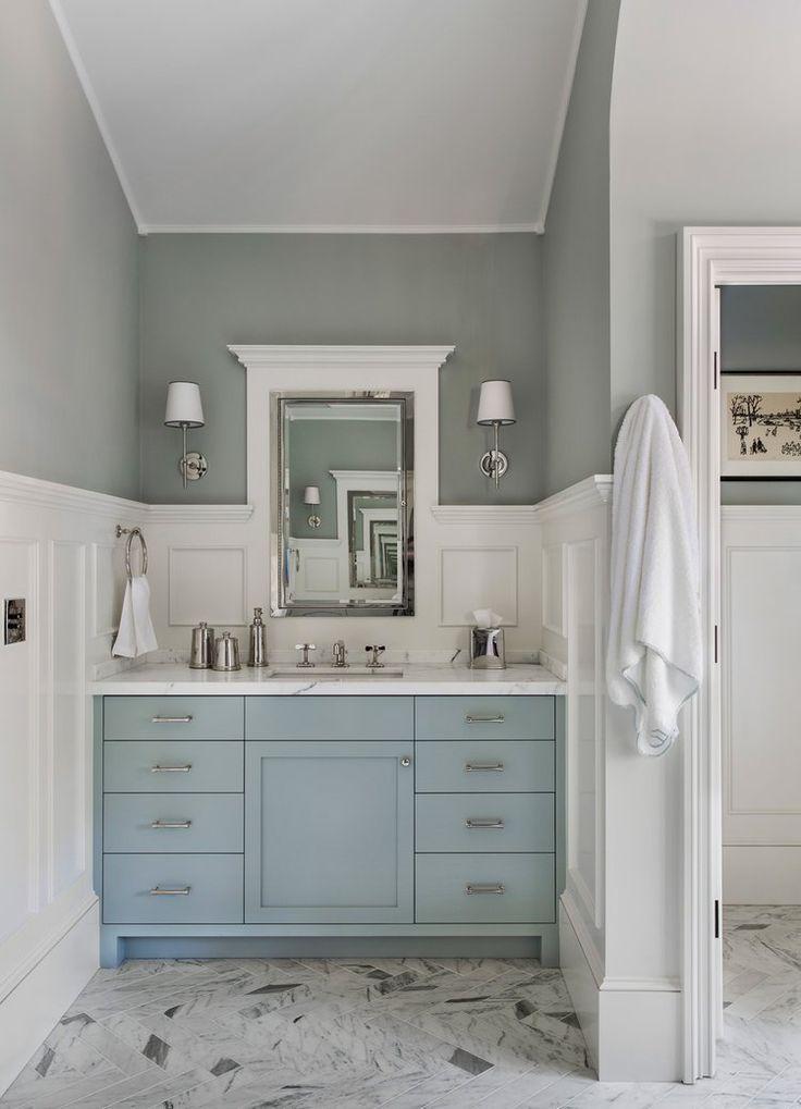 Blue Painted Bath Vanities Glidden Grey Leaf Sherwin