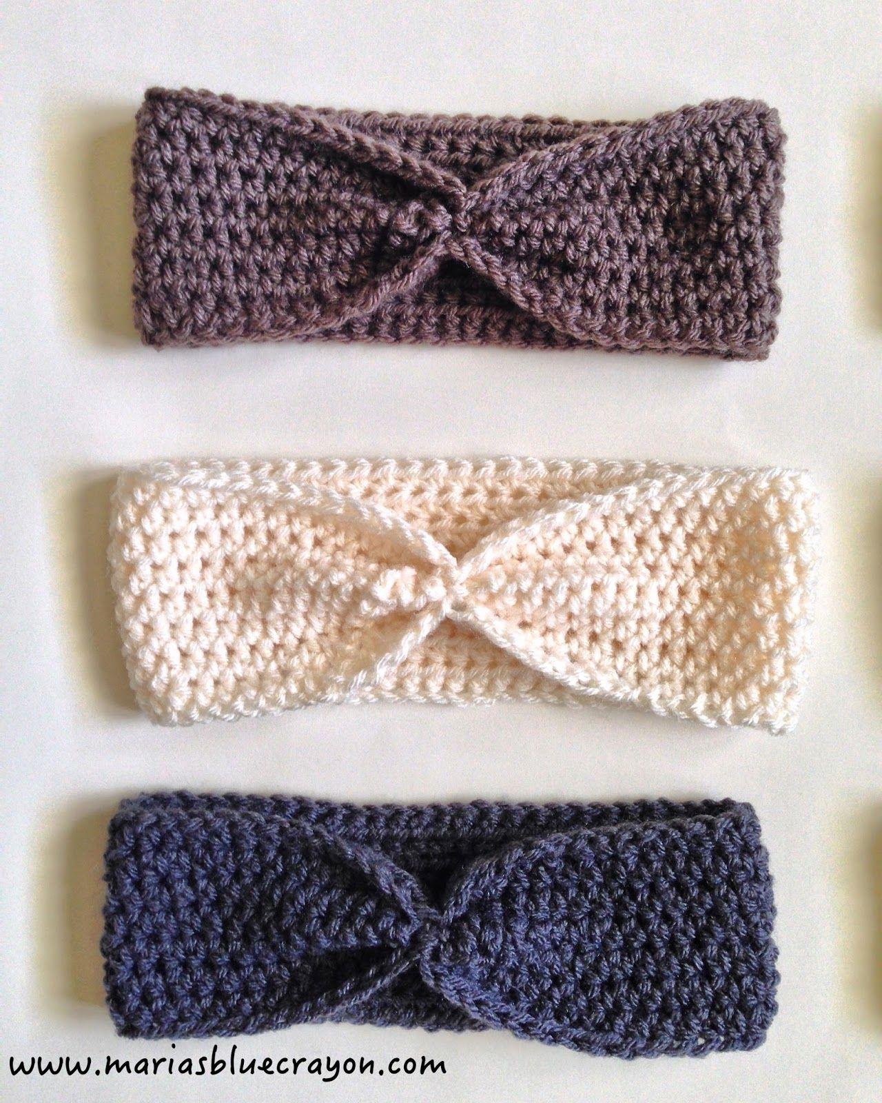 Simple Crochet Ear Warmer Pattern for Beginners | Cuadrados de ...