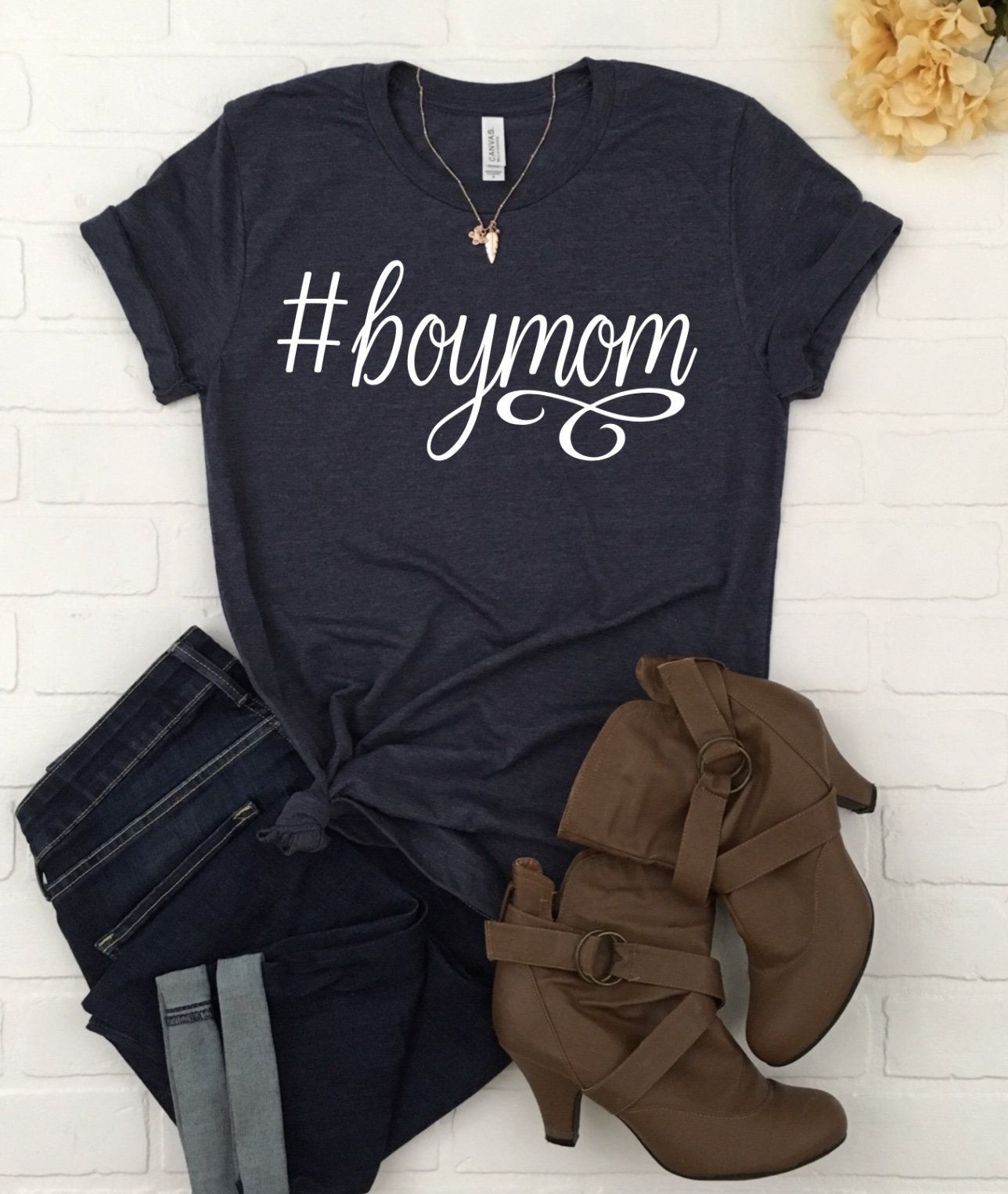 7fa9ce5dc7 Hashtag #boymom jersey t-shirt- Mom of boys- Mother's Day gift- Mom gift by  QualityTimeDesignsCo on Etsy