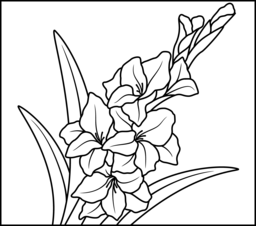 Flowers Coloring Pages Coloring Pages Gladiolus Flower Gladiolus Flower Tattoos