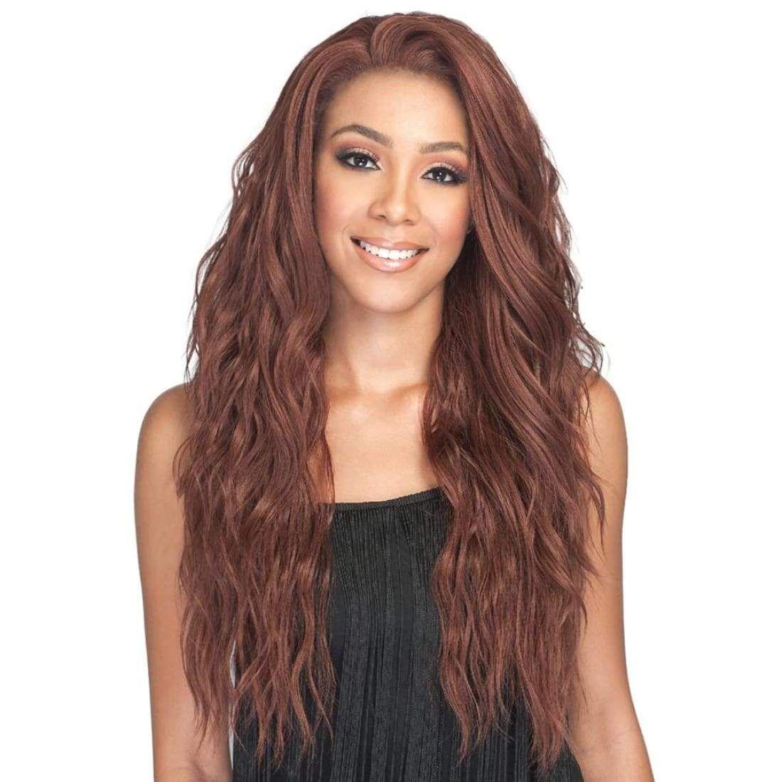 Bobbi Boss Human Hair Blend Swiss Lace Front Wig MBLF270