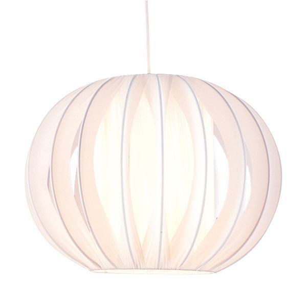 White side pleat onion light shade d320mm departments diy at bq