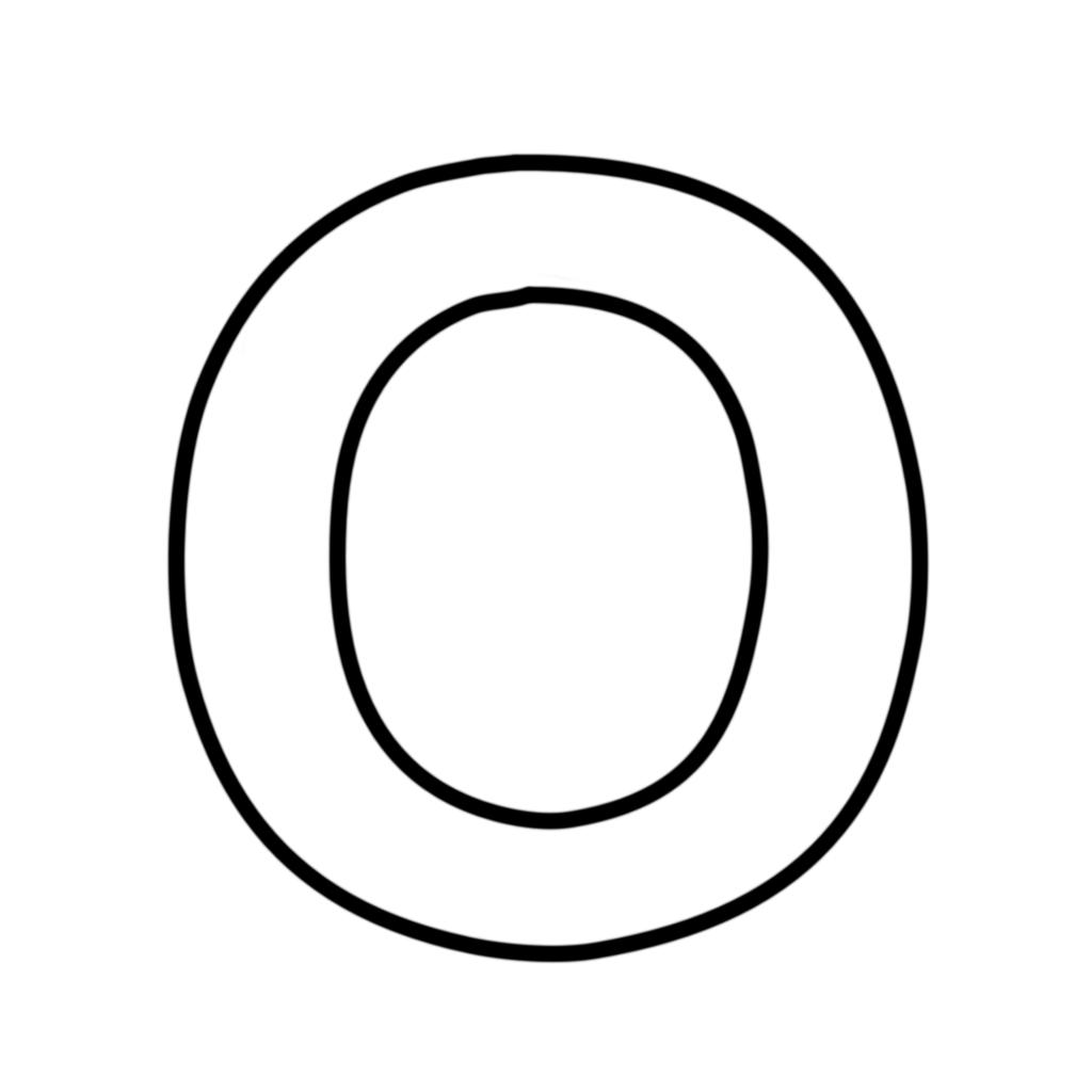 Lettera O Da Colorare Lettere E Numeri Lettera O Stampatello