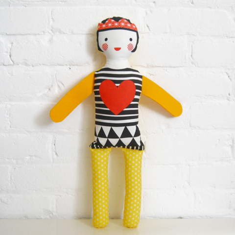 Love this doll from Pajama Squid.