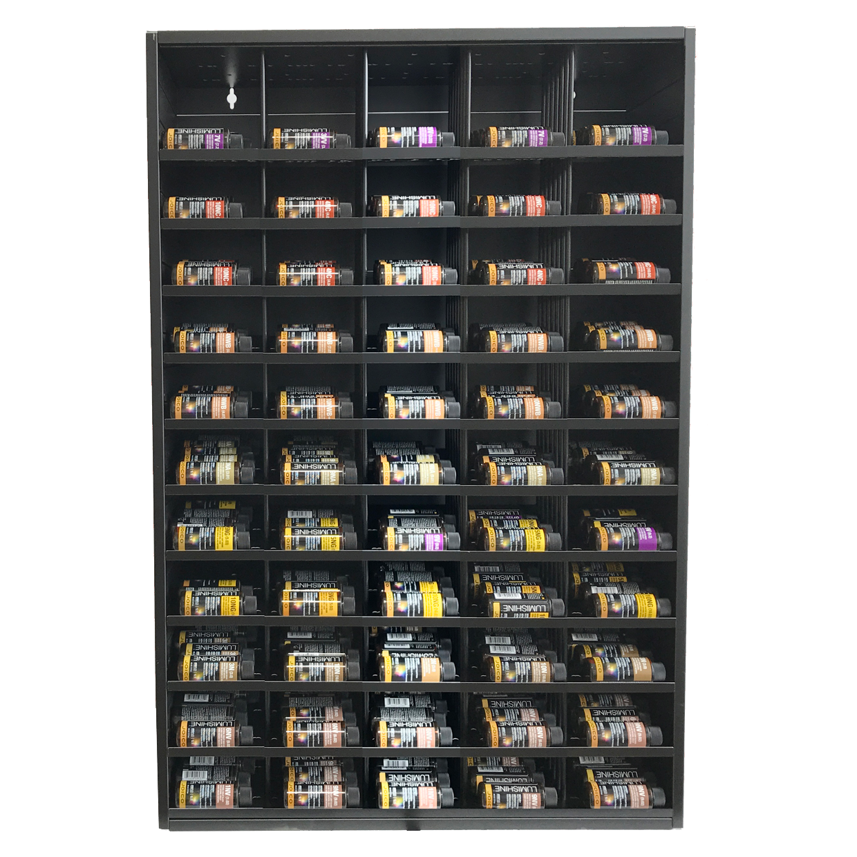 bottled colour storage, storage for colour bottles, shades Eq ...