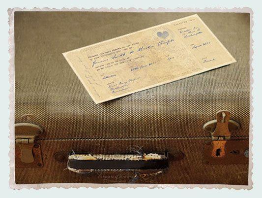 Old World boarding pass invitation