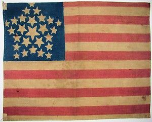 Important 2 Known C1837 Old Vintage Us American 26 Star Great Luminary Flag 4 Historical Flags Flag Patriotic Images