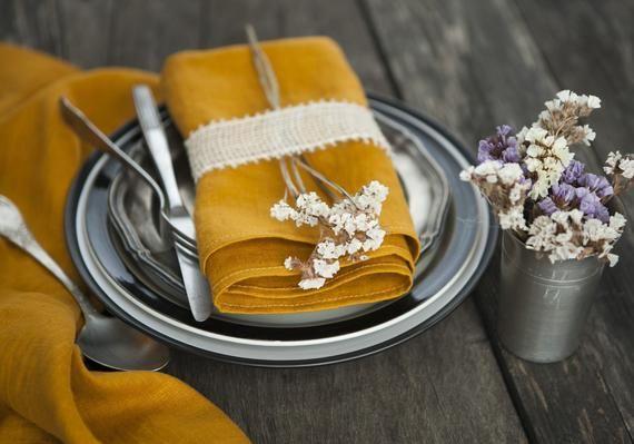 Cloth napkins Yellow table linen napkins Wedding napkins in bulk Dinner set napkins Napkins 18x18 Wa #clothnapkins