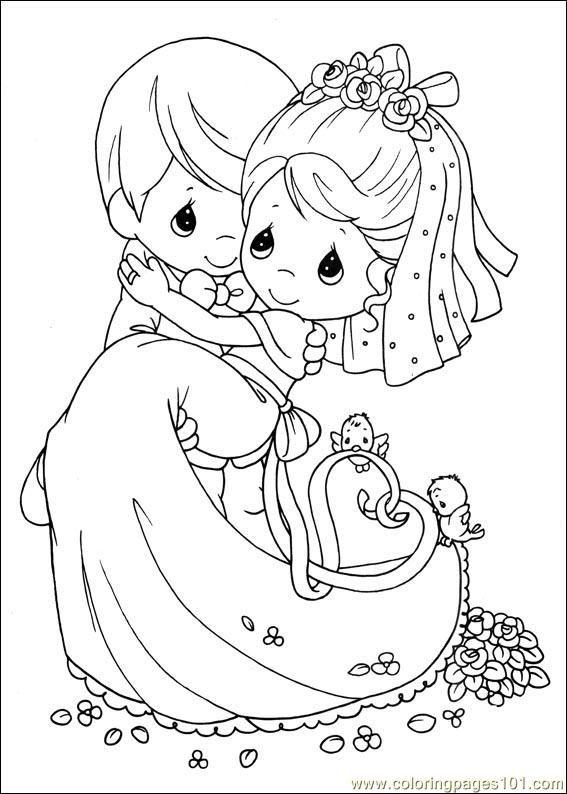 Preciousmoments29 Ougqr Jpg 567 794 Pixels Precious Moments Coloring Pages Wedding Coloring Pages Coloring Books