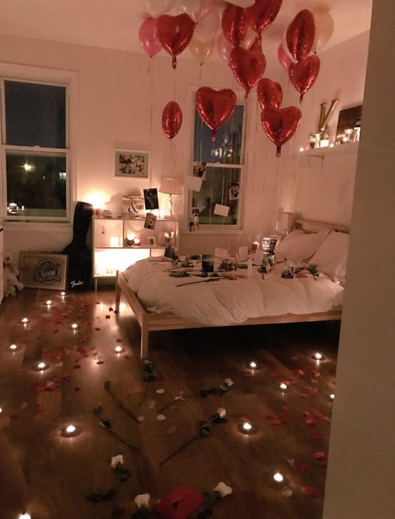 150 Sweet Romantic Valentine S Home Decorations That Are Really Easy To Do Hike N Dip Birthday Room Surprise Decoration