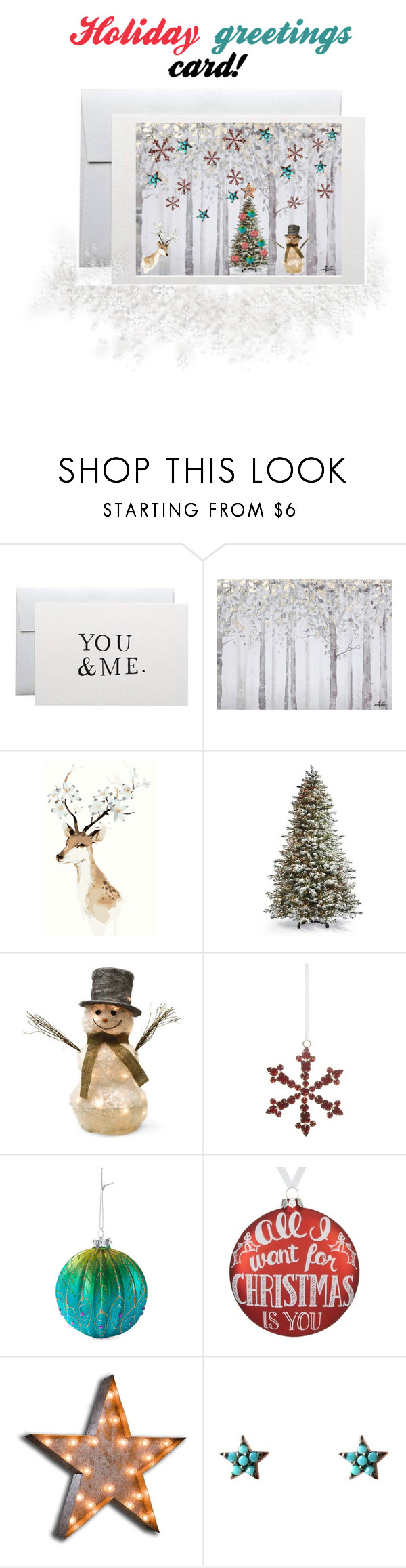 """""""Holiday Greetings Card!"""" by beanpod ❤ liked on Polyvore featuring Yosemite Home Décor, Frontgate, Shea's Wildflower Company, Shishi, John Lewis, Vintage Marquee Lights, Wild Hearts, holidaygreetingcard and PVStyleInsiders"""