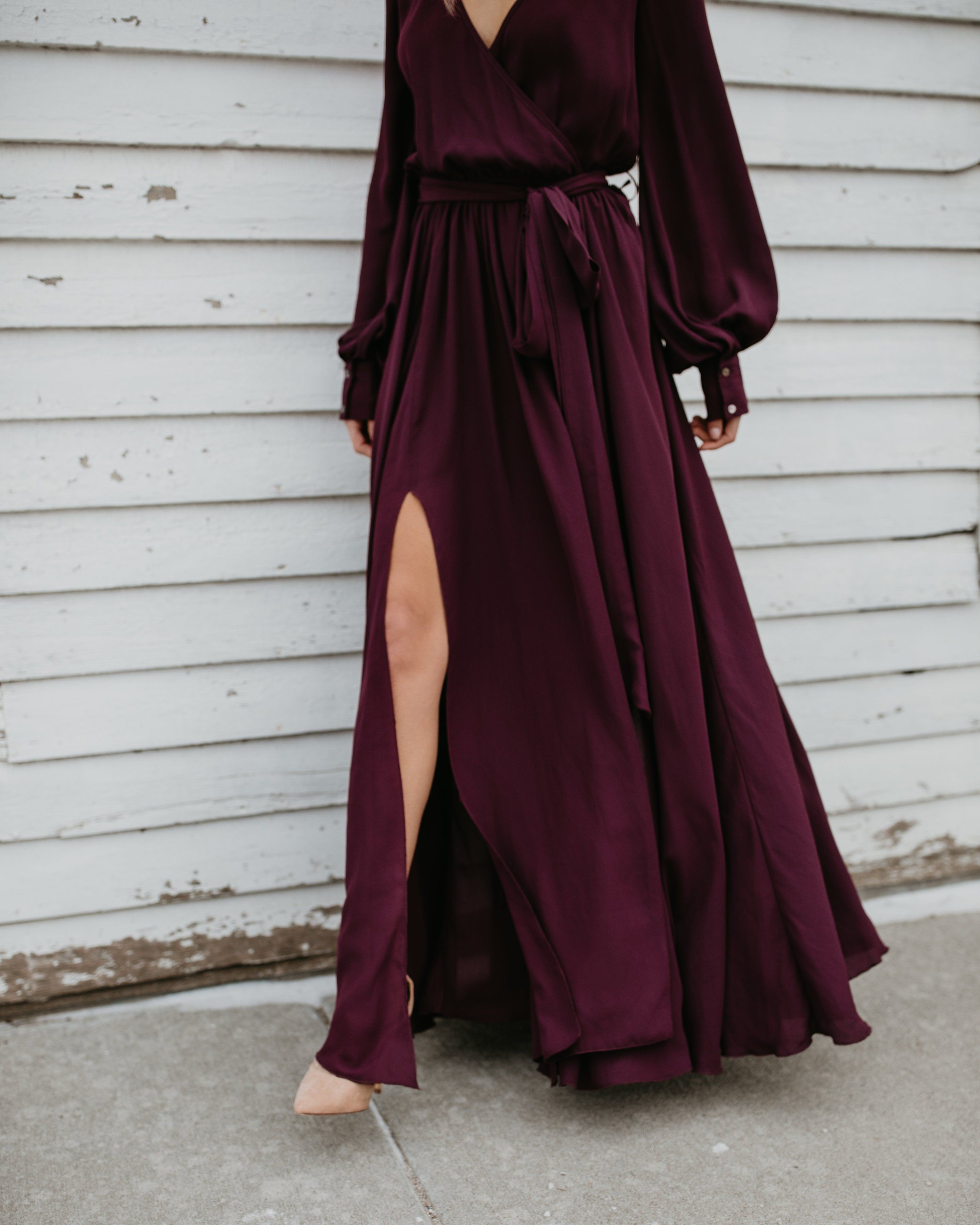 Long Sleeve Diana Maxi Dress Wine Long Sleeve Flowy Dresses Flowy Dress Long Maroon Flowy Dress [ 3600 x 2880 Pixel ]