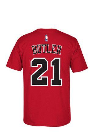 443fdae1eb9 Jimmy Butler Chicago Bulls Mens Red 7-Series Player Tee | NBA ...