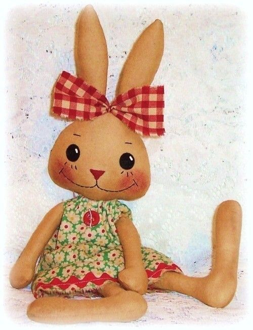Bunny Rabbit PATTERN, PDF pattern, SEWING pattern, Primitive style ...