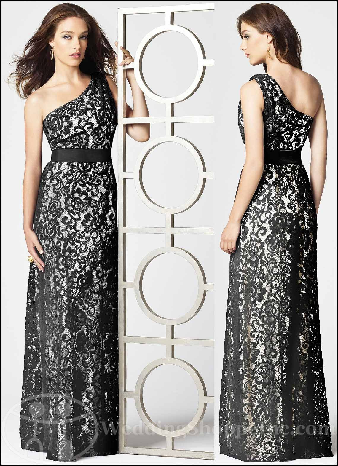 Wedding Black And White Lace Dress a black and white affair dessy bridesmaid dress styles