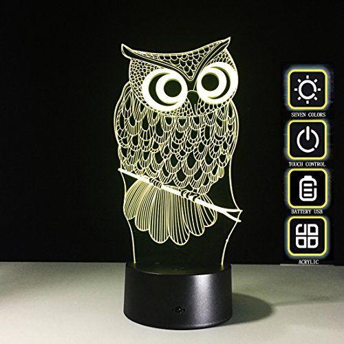 Owl 3d Touch Night Lamp Meago 7 Color Changing Usb Desk Https Www Amazon Com Dp B06xzl8kv1 Ref Cm Sw R Pi Dp X Bhlbzbja Light Table Lamp Led Night Light