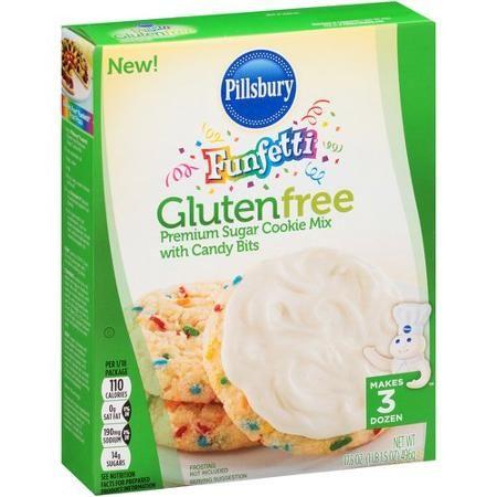 Pillsbury Funfetti Gluten Free Premium Sugar Cookie Mix with Candy