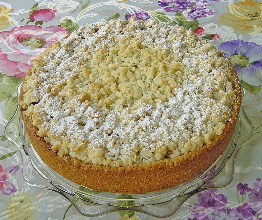 Gedeckter Apfelkuchen Mit Streuseln Kuchen Torten Und Dessert