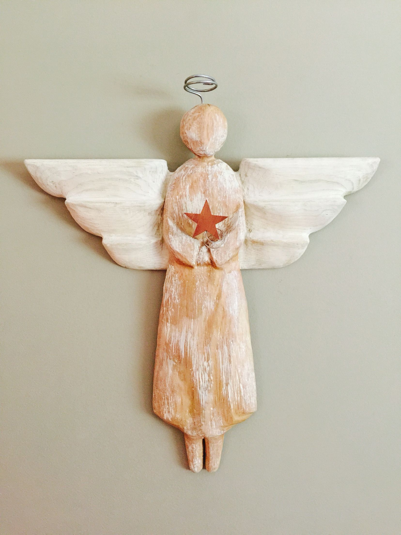 Angel Christmas Wood Carving