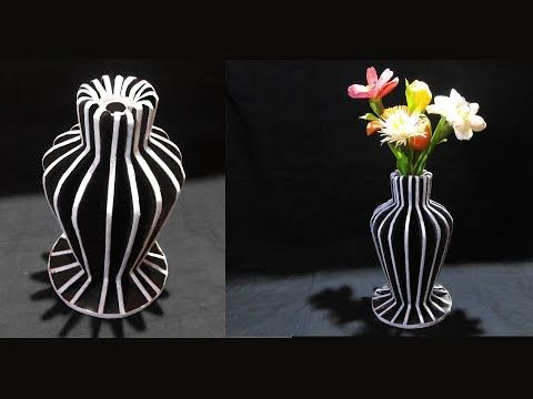 How To Make Flower Vase With Newspaper And Cardboard DIY Best Out Of Waste
