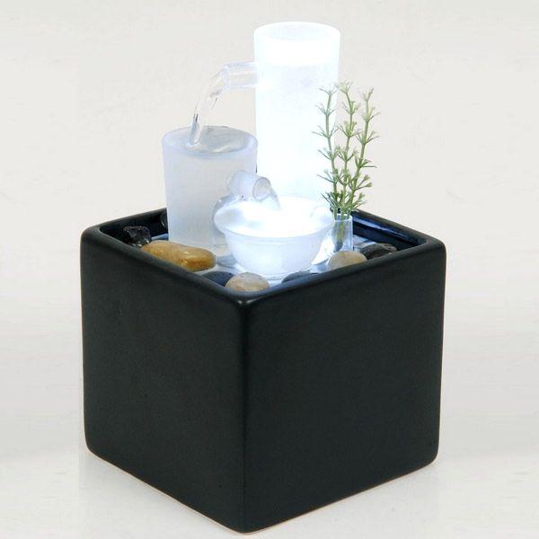 Fontaine d\u0027intérieur lumineuse \ - fontaine a eau d interieur