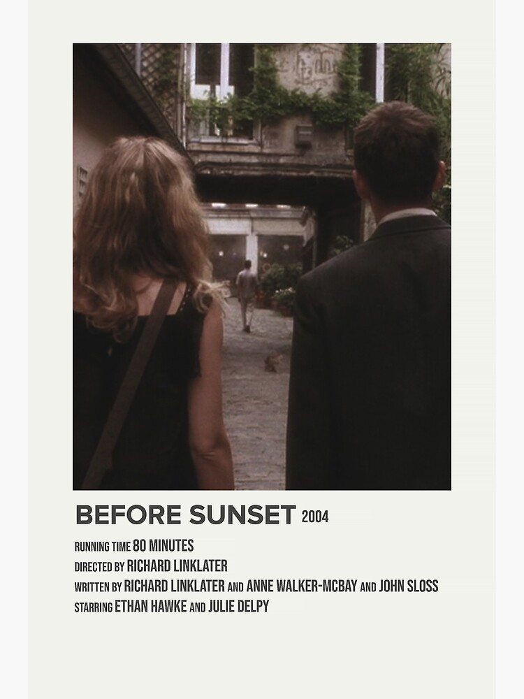 Before Sunset 2004 Poster By Lucyet In 2021 Iconic Movie Posters Movie Posters Minimalist Film Posters Minimalist