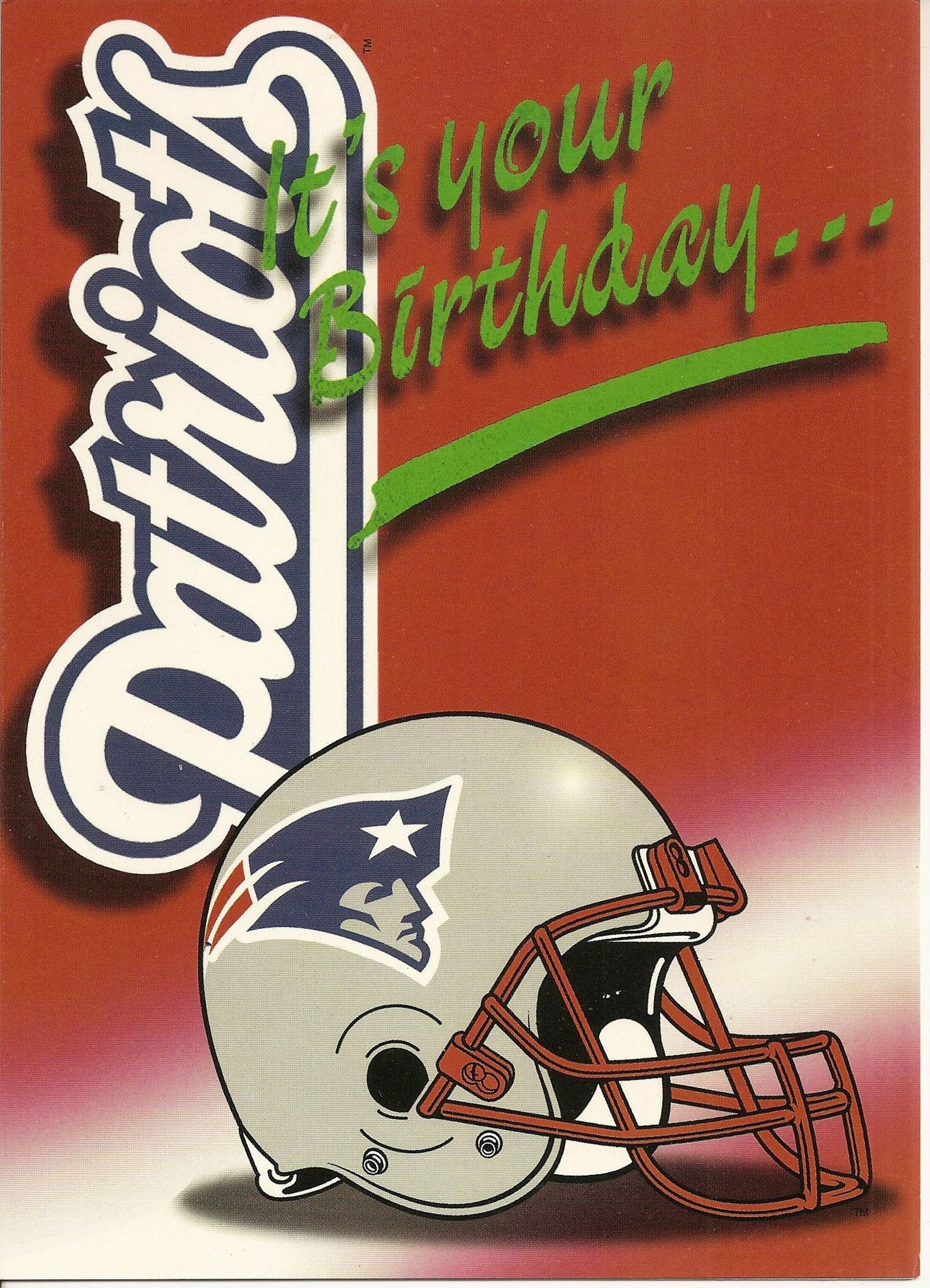 Valentine Card Design Happy Birthday Card New England Patriots