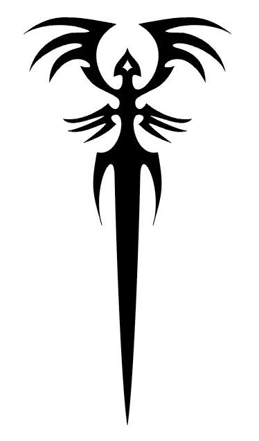 Tribal Dagger , Simple Tattoo Ideas Small Tattoo Ideas
