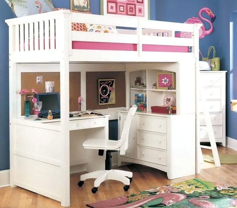 full size bunk beds with desk bedroom stunning full size ...