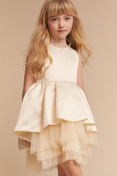 382e44406 Anthropologie | Champagne Duchess Dress | BHLDN Tulle | Peplum-style satin  | Flower Girl dresses | Wedding guest | Holiday | Unique | Modern