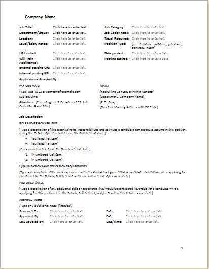 Pin on standard operating procedures | Pinterest | Job description ...