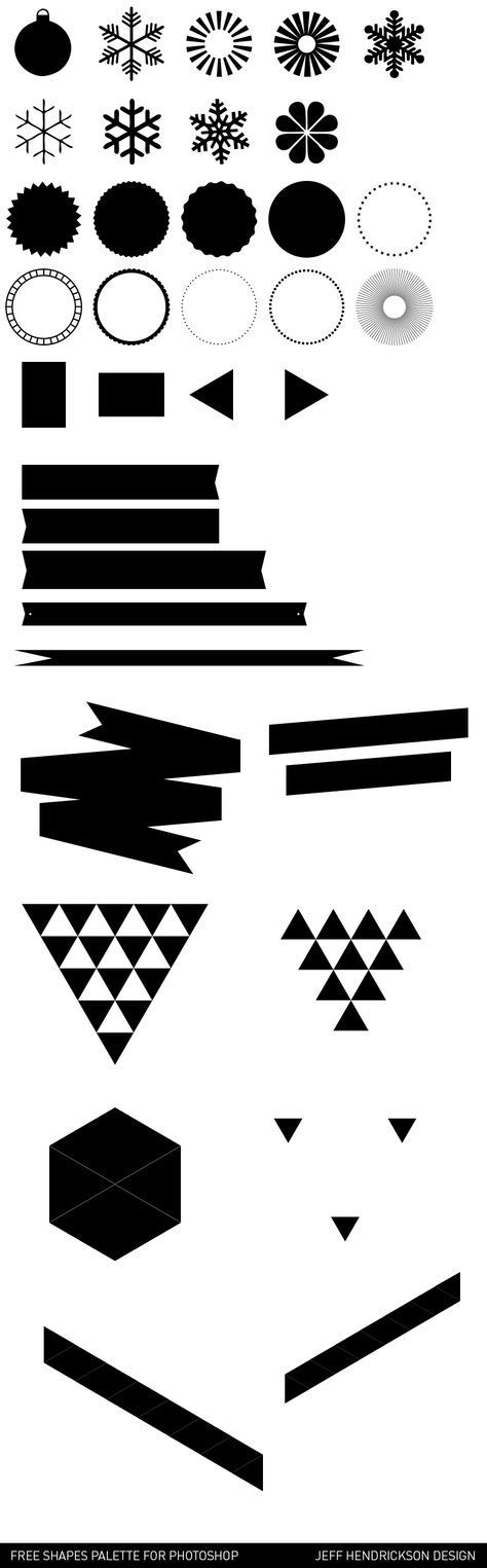 Free Shapes for Photoshop