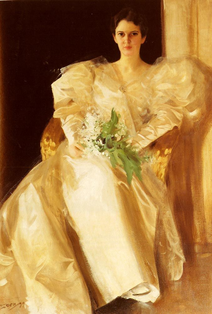 Portrait Of Mrs Eben Richards, 1899Anders Zorn - by style - Art Nouveau (Modern)