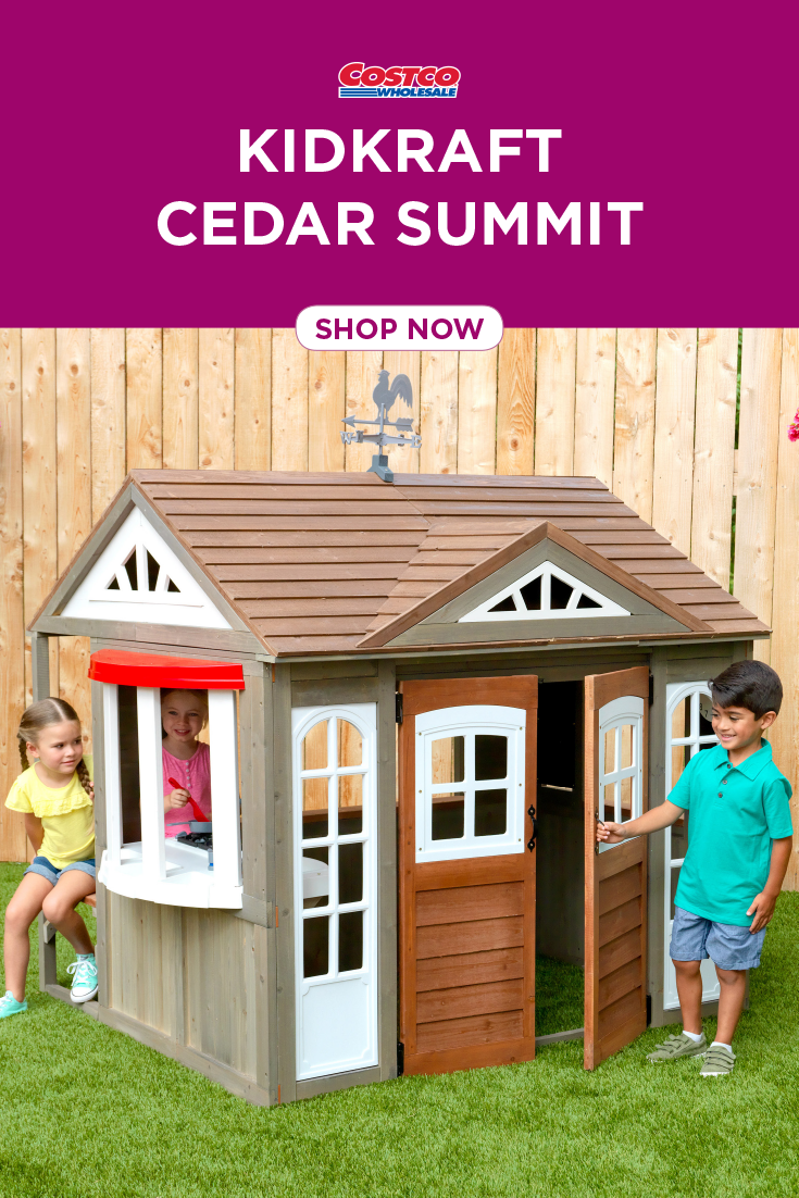 Pin By Costco On What S New On Costco Com Play Houses Cedar Playhouse Costco Playhouse