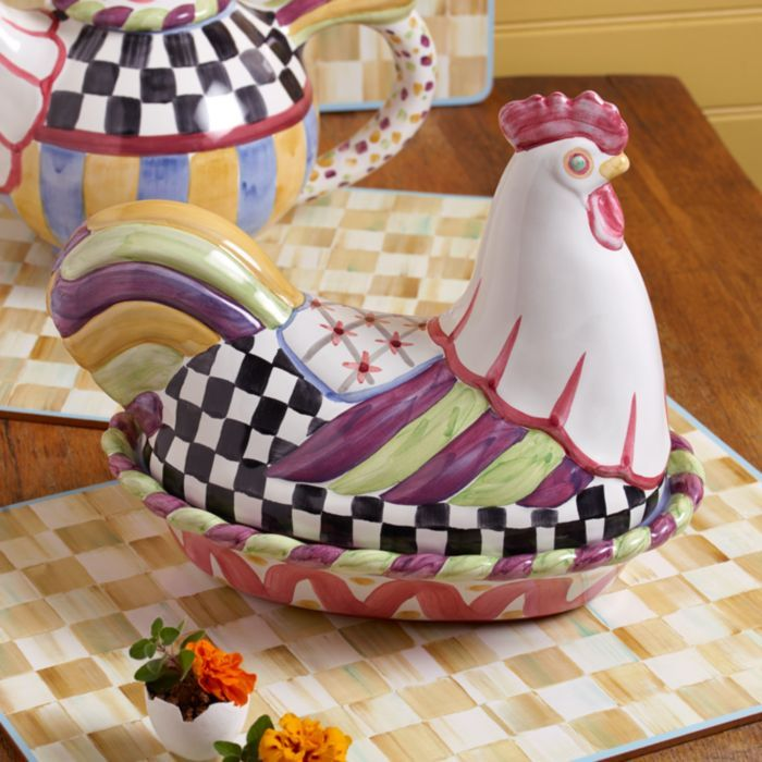 Baby Mackenzie-childs Chicken Plate