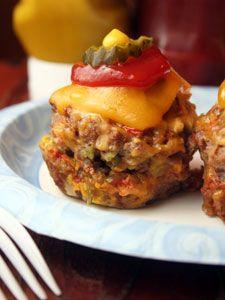 Cheeseburger mini-meatloaves!
