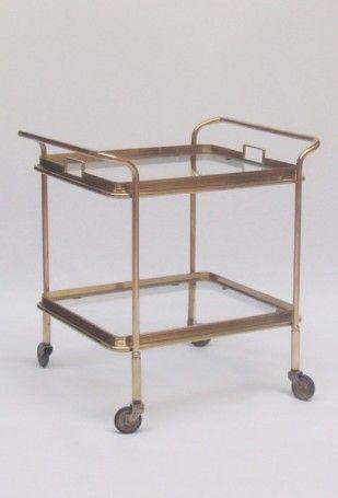 Small Brass Trolley