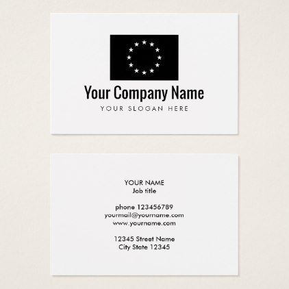 European union flag company business card eu size flag company european union flag company business card eu size colourmoves