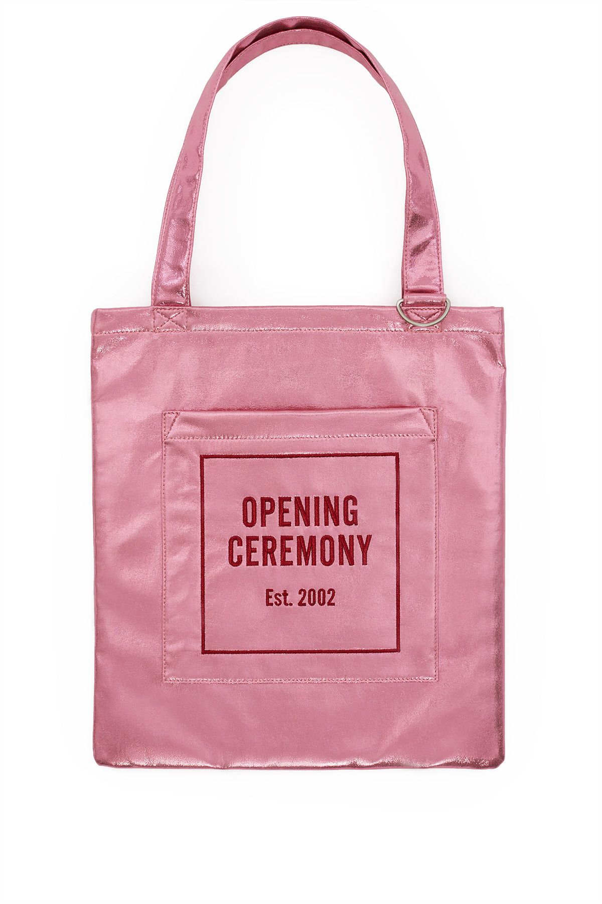 Opening Ceremony Pink Glitter Tote Bag For Summer 2017