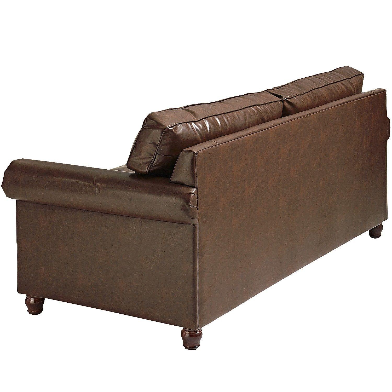 Best Alton Tobacco Brown Rolled Arm Sleeper Sofa Sofa 400 x 300