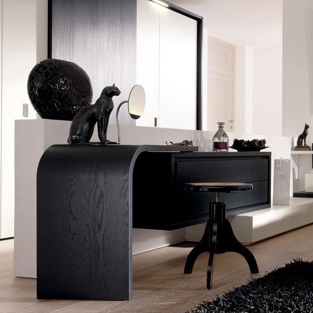 Schminktisch Ideen Holz Schwarz Hocker Design Mioletto Hulsta | Möbel Ideen  | Pinterest