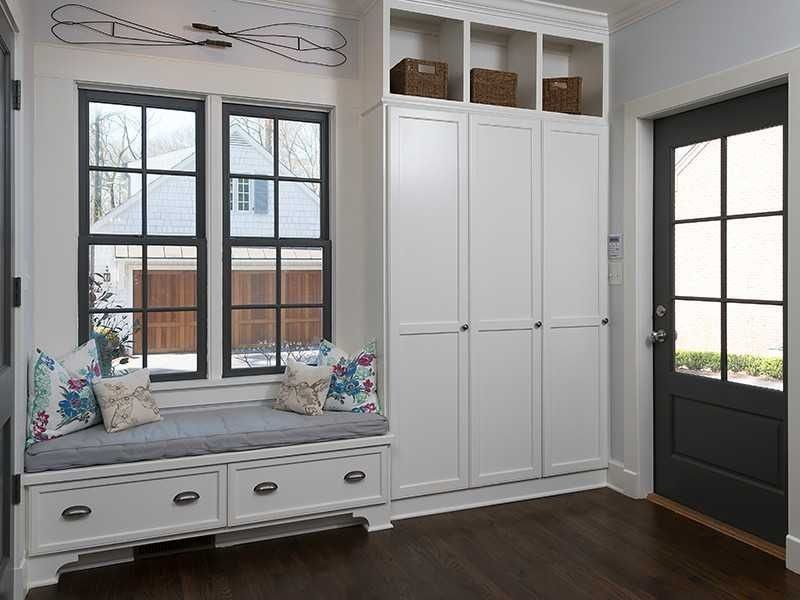 Traditional Mud Room with Crown molding & Window seat in ...