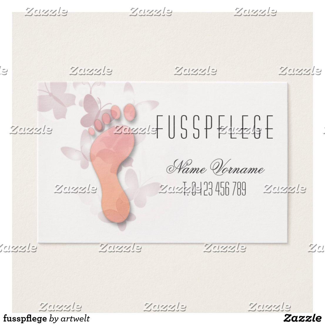 Fusspflege Zazzle De Fußpflege Visitenkarten Und