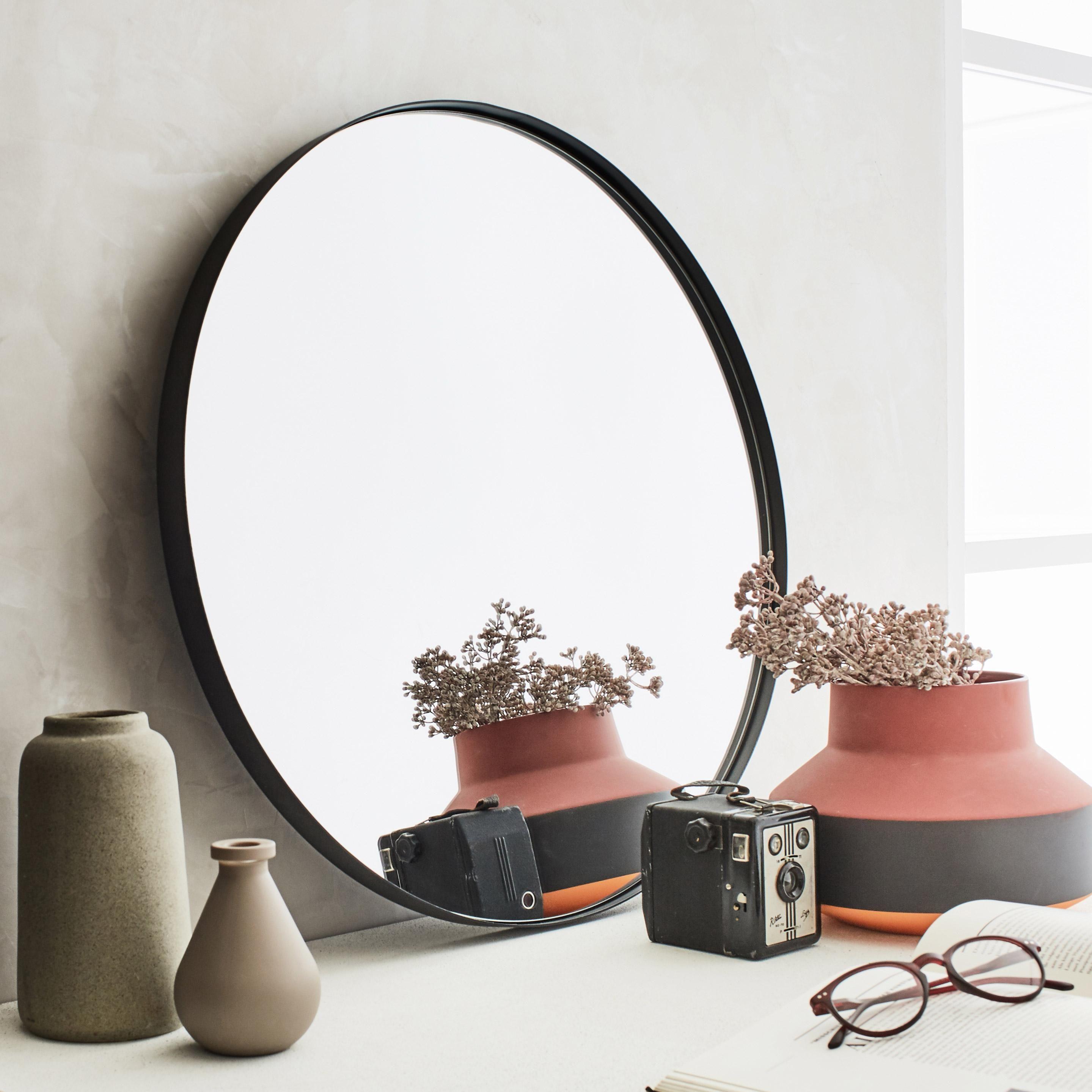 Miroir Rond Neutral Noir Diam 40 Cm Miroir Rond Miroir Miroir Noir