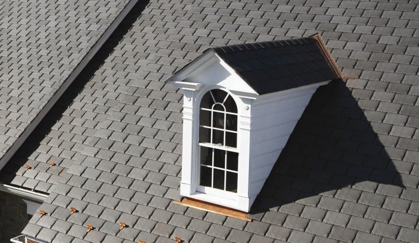 Shauna Mailloux Synthetic Slate Such As Certainteed S Symphony Slate Is An Innovative Roofing P Composite Roof Shingles Residential Roofing Roof Shingles