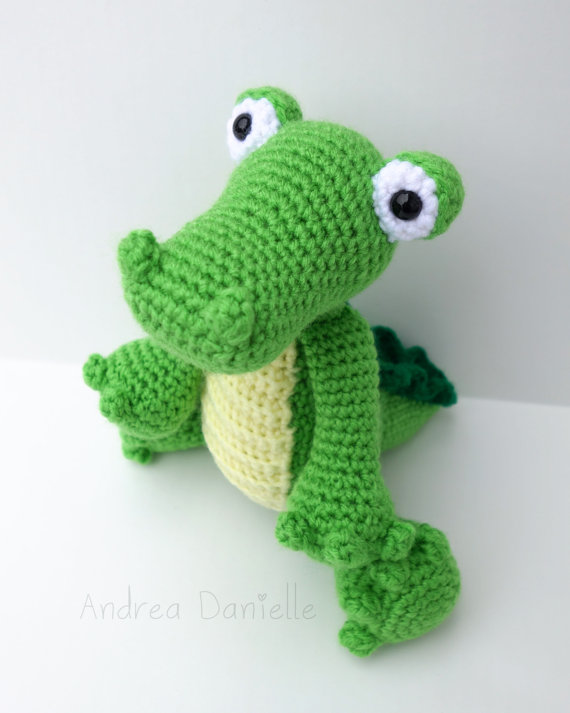Crochet Crocodile/ Alligator Toy Amigurumi: by AndreaDanielle