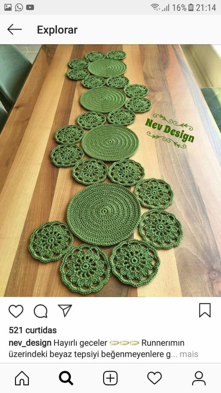 Runner | Misc Crochet ideas | Pinterest | Caminos de mesa, Ganchillo ...