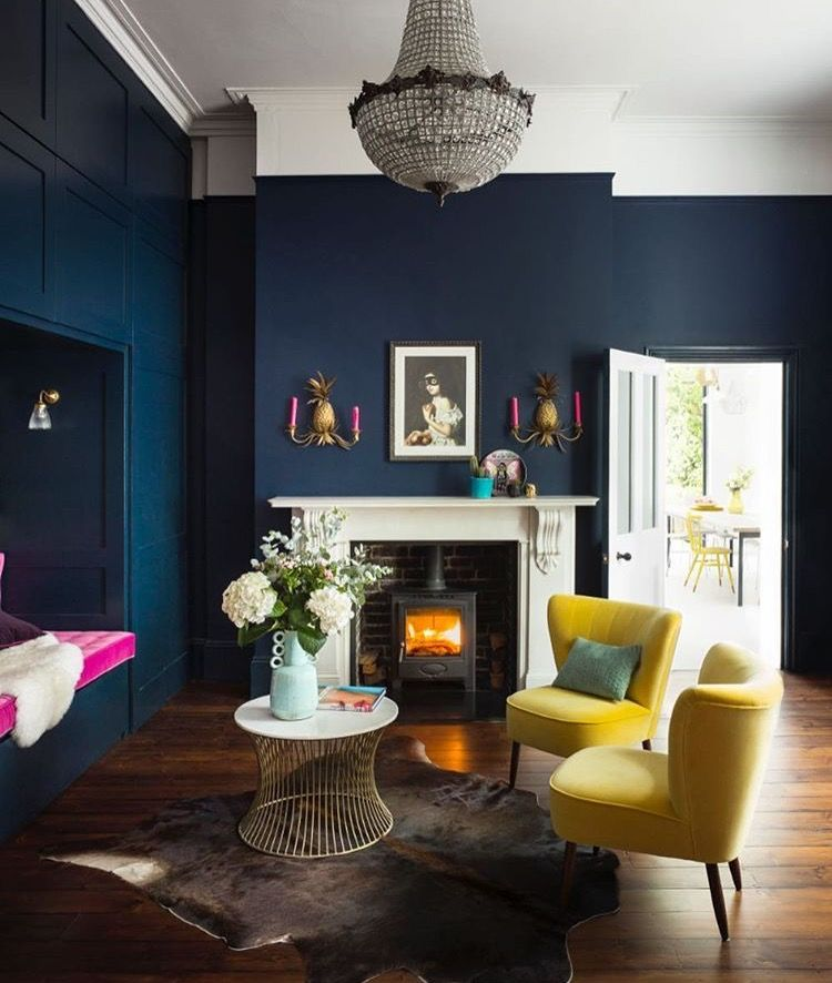 Pin By Memoky On Decor Blue Living Room Dark Living Rooms Living Room Color